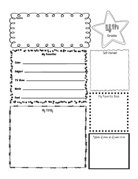 Getting To Know Me Poster-4th Grade
