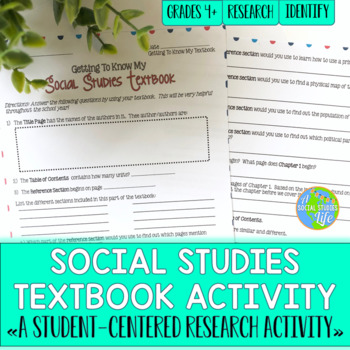 Social Studies Textbook Activity