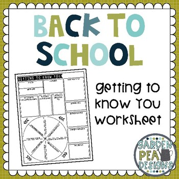 Getting To Know You Worksheet