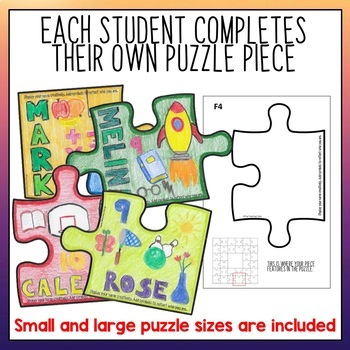 Getting To Know You Activities Collaborative Puzzle | All about me activity