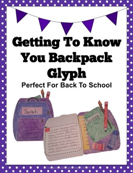 Getting To Know You- Backpack Glyph