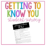 Getting To Know You: Beginning of the Year Student Survey