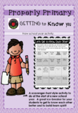 Getting To Know You Bingo Activity