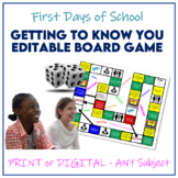 Getting To Know You Board Game for Start of Year