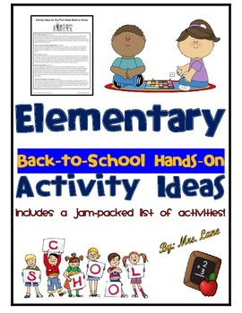 Elementary Back-to-School Hands-On Activity Ideas