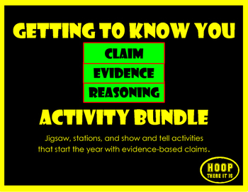Getting To Know You C-E-R Activity Bundle