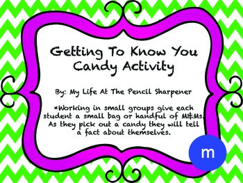 Getting To Know You Candy Activity