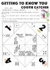 Getting To Know You Cootie Catcher Activity - Ice Breaker - Back To School
