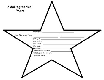 Back to School- Auto-Bio Poem Activity