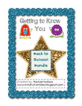 Getting To Know You Fortune Tellers - Back to School Bundle!