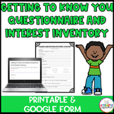 Getting To Know You Parent Questioner