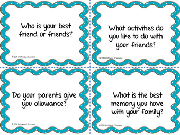 Getting To Know You Partner Cards