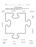 Getting To Know You - Puzzle Piece Activity