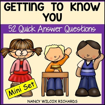 Task Cards: Getting to Know You (K-4)