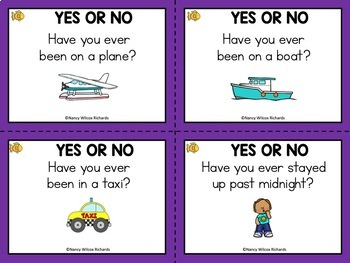 Back to School Task Cards: Getting to Know You (K-4)
