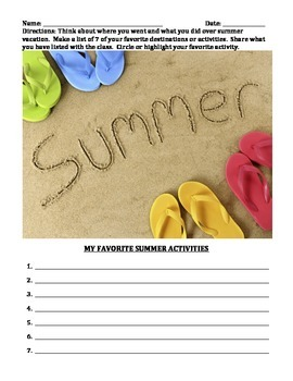 GET TO KNOW YOU ACTIVITIES (GRADES 2 - 4)