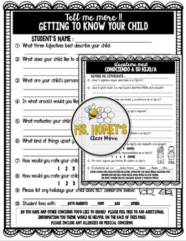 Getting To Know Your Child (Survey)