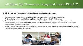 Getting To Know Your Classmates: Work - for ESL, LINC, and PBLA Classes