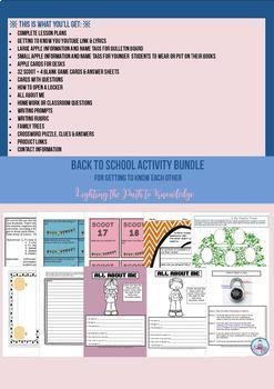 Back to School Activities For Getting to Know Each Other (5-7 & Sp.Ed.)