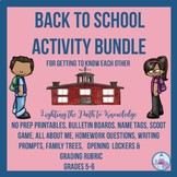 Back to School Activity Bundle For Getting to Know Each Ot
