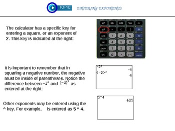 Getting To Know Your Graphing Calculator Lesson 1