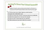 Getting To Know Your School Counselor Roll -A- Die Game