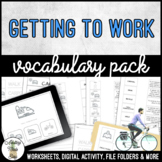 Unit 8 Getting To Work - Vocabulary Pack