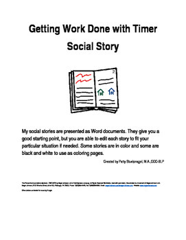 Getting Work Done with Timer Social Story
