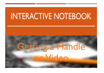 Interactive Notebook - Getting a Handle on Video