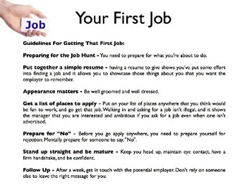 Getting a Job PowerPoint