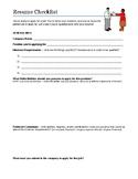 Getting a Job - Resume Checklist