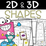 2D and 3D Shapes 7 Print and Go Activities