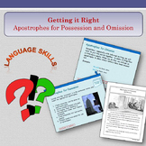 'Getting it Right' - Apostrophes for Possession and Omission