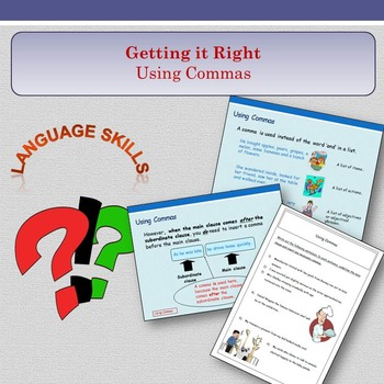 'Getting it Right' - Using Commas