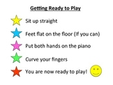 Getting ready to play steps