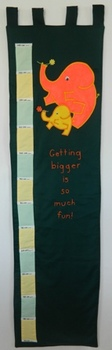 """Getting taller is so much fun!"" Elephant Wall Growth and Measurement Chart"