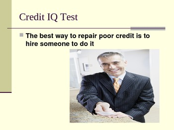 Getting the Credit YOU Deserve!