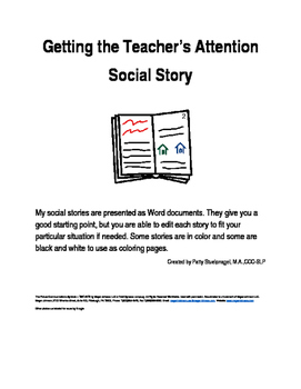 Getting the Teacher's Attention Social Story