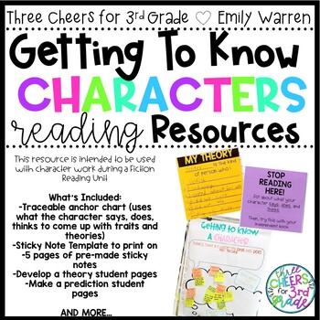 Getting to Know Characters- Fiction Reading Resources