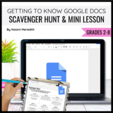 Getting to Know Google Docs {Mini Lesson & Scavenger Hunt}