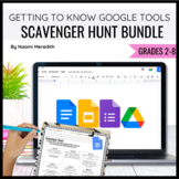 Getting to Know Google Drive, Docs, Slides and Forms- BUNDLE Scavenger Hunts