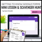 Getting to Know Google Forms {Mini Lesson & Scavenger Hunt}