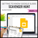 Getting to Know Google Slides {Scavenger Hunt, PDF}