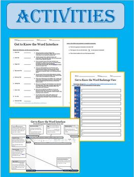 MICROSOFT WORD - Getting to Know the Interface