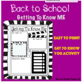 Getting to Know Me- Back to School Activty