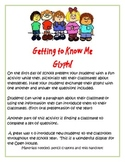 Getting to Know Me Glyph - 1st Day of School Following Directions Fun Activity
