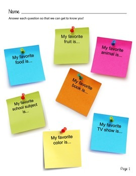 Getting to Know Me! Back-to-School Icebreaker