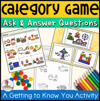 Asking and Answering Questions: A Getting To Know You Picture Category Activity