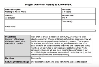 Getting to Know Pre-K Unit