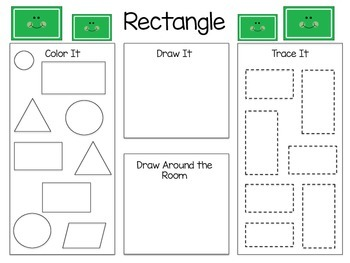 Getting to Know Shapes Worksheets